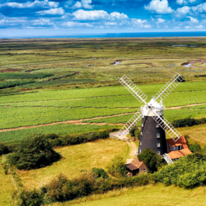 Aerial Photographer East Anglia - Burnham Overy Staithe Mill