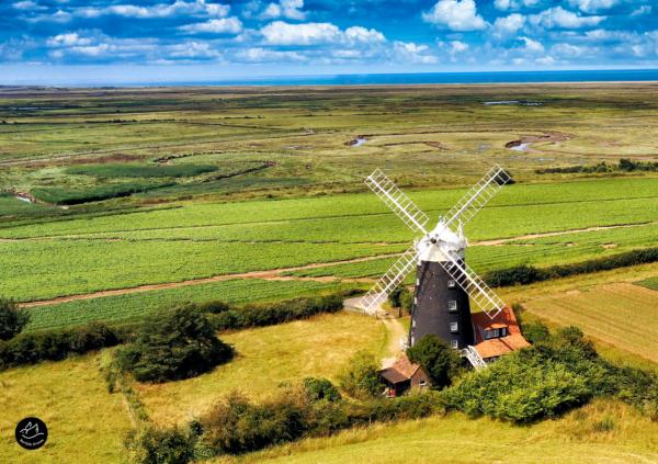 Aerial Photographer East Anglia - Burnham Overy Staithe Mill