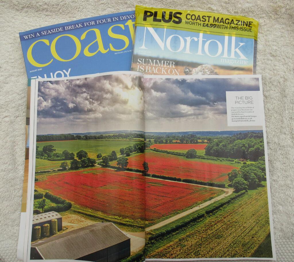 Heacham Poppy Fields Norfolk Magazine Center Page August Edition