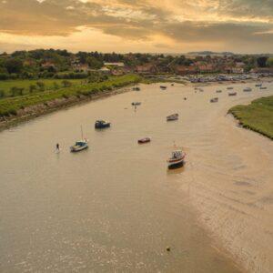 Burnham Overy Surf Boards Norfolk Drone