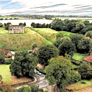 Castle Rising National Trust Norfolk Norfolk Drone Sketch