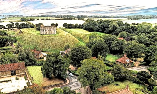 Castle Rising National Trust Norfolk Norfolk Drone Sketch
