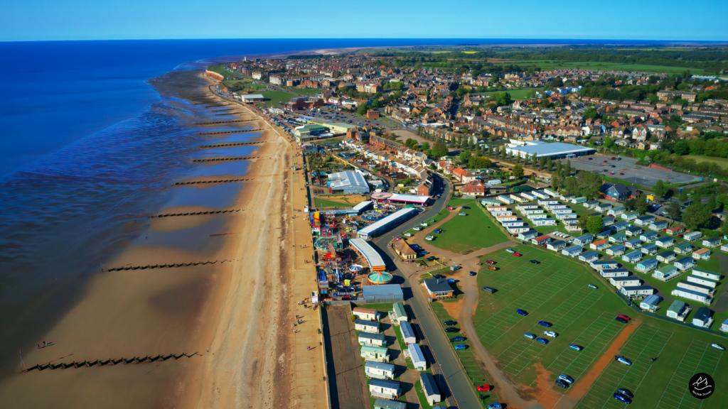 Hunstanton Fun Fair Norfolk Drone