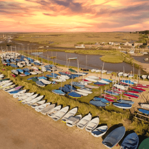 Burnham Overy Staithe Sunset Harbour