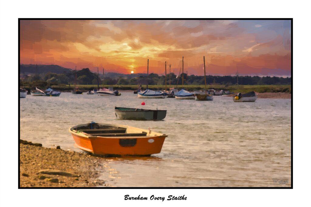 Burnham Sunset boats-Oil